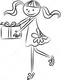 cartoon drawing happy birthday card u2014 stock photo wenpei 65837373