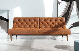 Vintage Leather Chesterfield Sofa by Oldschool Sofa Bed By Innovation Living
