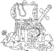 treasure chest coloring alric coloring pages