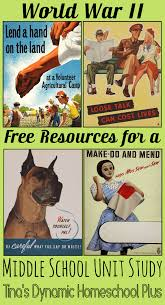 world war ii free resources for a middle unit study unit