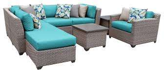 Discount Wicker Patio Furniture Sets Catalina 08g Outdoor Wicker 8 Piece Patio Set Tropical Outdoor