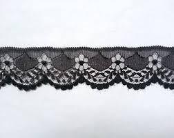 black lace ribbon etsy