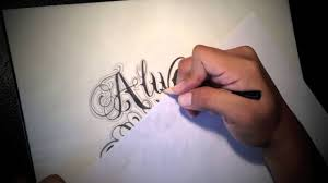 always and forever cursive lettering youtube