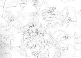 mermaid sketch yayayasha deviantart