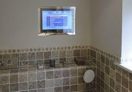 beautiful bathroom mirror with tv on enhanced series television