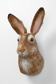paper mache rabbit kielder forest bust rabbit anthropologie