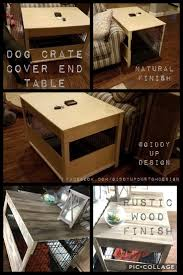 dog crate dog crate cover puppies pinterest crate dog crate end table diy best table decoration