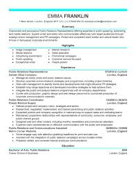executive summary example for resume best ideas of sample resume public relations with summary sample brilliant ideas of sample resume public relations with format layout