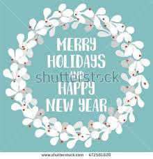 merry holidays happy new year pastel stock vector 472581820