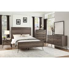 king bedroom sets modern modern industrial gray 6 piece california king bedroom set