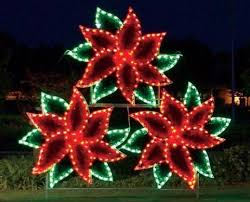 christmas outdoor decorations commercial light up poinsettia cluster holidaylights