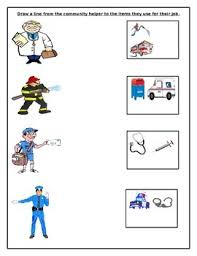 a simple worksheet where students have to draw a line from the