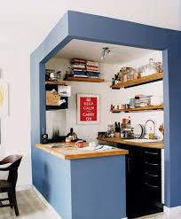 small kitchen decoration small kitchen design blue color theme bar table small kitchen
