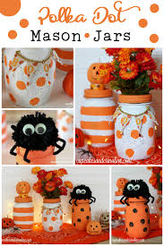Mason Jars Halloween by Polka Dot And Striped Halloween Mason Jars Home With Cupcakes