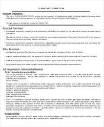 Billing Clerk Job Description For Resume by Medical Record Clerk Job Description 12751650 Supply Clerk Job