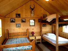 Cabin Bedroom Furniture Decorations Mesmerizing Cabin For Room With Wood Log