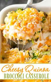 quinoa thanksgiving recipes cheesy quinoa and sausage broccoli casserole the chunky chef