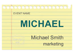 Name Tag On Desk Downloadable Templates And Designs For Nametags And Badges