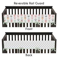 Mod Pod Pop Monkey Crib Bedding by Amazon Com Sweet Jojo Designs Coral Mint And Gray Crib Bed