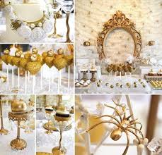 loving this gold and white snow white themed set up