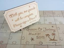 engravable wedding guest book wedding puzzle guest book 32 400 wedding guest