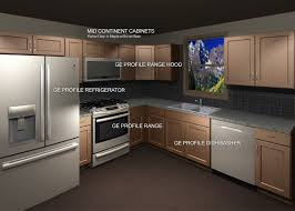 how to make kitchen cabinets model mid continent cabinets with ge profile appliance package