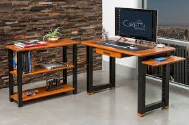 Small Desk Bookshelf Loft Desk Cherry Caretta Workspace