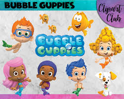 bubble guppies clipart 22 png u0027s 300 dpi instant digital download