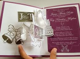 pop up wedding invitations cakes doves accordion pop up wedding invitation with silver