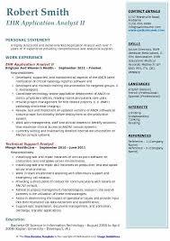 Emr Resume Sample by Application Analyst Resume Samples Qwikresume