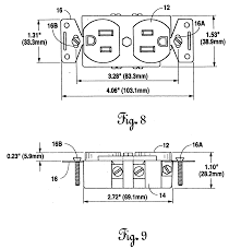 patent us20060057873 electrical receptacle for outward facing