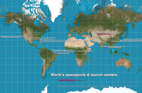 Map Pad World Map Of Rocket Launch Sites Science Tech Tablet