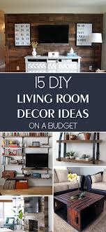 diy livingroom decor 15 diy living room decor ideas on a budget