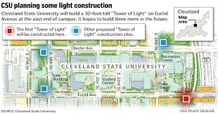 cleveland state university to build u0027tower of light u0027 to mark