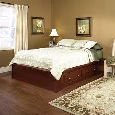 sauder palladia select cherry queen platform bed at menards