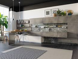 cuisine lube wooden kitchen with cement finish doors oltre cucine lube