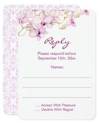 Wedding Reply Cards Purple Orchid Wedding Invitations With Watercolor Orchid Design