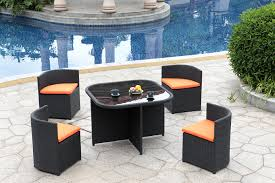 patio outdoor wicker outdoor patio furniture set 5 pc conversation