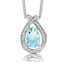 byjoy jewellery byjoy 925 pear shape sterling silver pendant on 45 cm curb chain