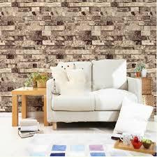 3d Wallpaper Home Decor Wallpaper U0026 Accessories 10m 3d Stack Stone Brick Tile Effect