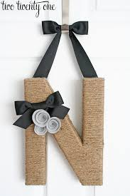 jute wrapped monogram wreath diy two twenty one