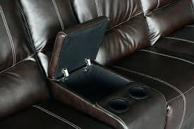 Brown Leather Recliner Sofa Email A Friend Brown Leather Recliner With Cup Holder Power
