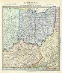 map of ohio america sheet viii ohio with parts of kentucky and virginia