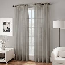 120 Inch Sheer White Curtains Crushed Voile Sheer 108 Inch Rod Pocket Window Curtain Panel In