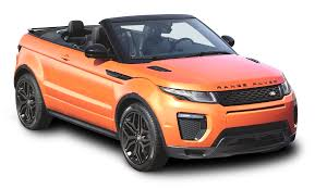 land rover orange orange land rover range rover evoque convertible car png image