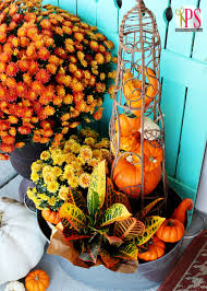 Growing Pumpkins On A Trellis Creative Outdoor Fall Decor Positively Splendid Crafts Sewing