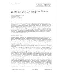 an introduction to programming the meshless element f reegalerkin an introduction to programming the meshless element f reegalerkin method pdf download available