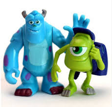monsters inc cake topper sulley mike randall monsters