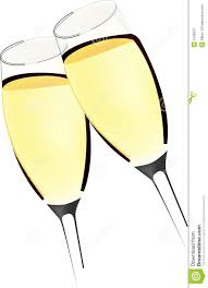 martini glasses clinking two glasses of sparkling wine stock image image 5100931