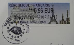 bureau poste tours cartes de vœux envoyées depuis la tour eiffel parisparis in
